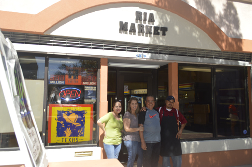 Ria Market owners, the De La Torre Family, from left: Irma, Rosa, Juan and Jorge De La Torre. Photo by Jackie Ortiz, Journalism in July.