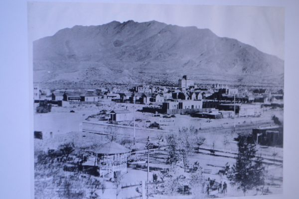 Downtown El Paso and San Jacinto Plaza in 1883. Photo courtesy El Paso Historical Society.