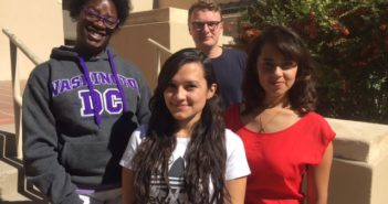 Borderzine Election 2016 reporters, from left, Shericka Lawrence, Leslie Borrayo, Jack Price, Kenia Guerrero.