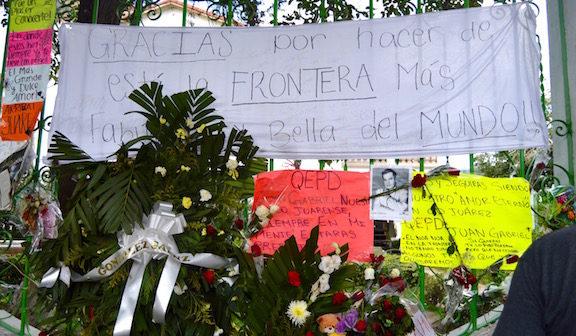 """""""Gracias por hacer de esta la frontera más fabulosa y bella del mundo"""" Photo credit: Valeria Terrazas"""