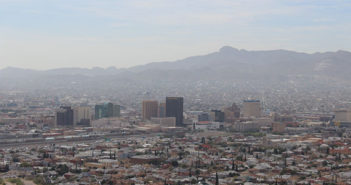 Hazy skyline of El Paso