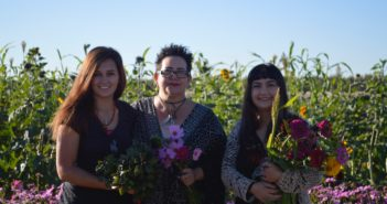 From Left: Susannah Calhoun, Mary Ibanez and Juliana Varkonyi merged businesses to bring local and sustainably grown flowers to the El Paso/Mesilla Valley Region Photo credit: Esmeralda Treviño