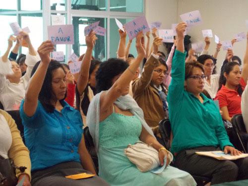 Integrantes del sindicato. De Federación Internacional de las Trabajadoras del Hogar