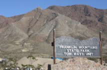 Entrance of the Franklin Mountains through the Tom Mays Unit. Photo credit: Sarah Montelongo