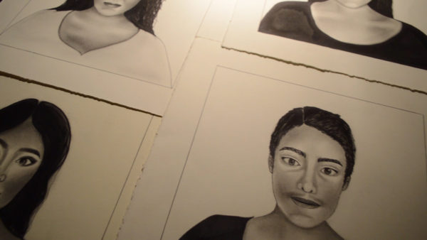 Drawings of women by Ana Carolina