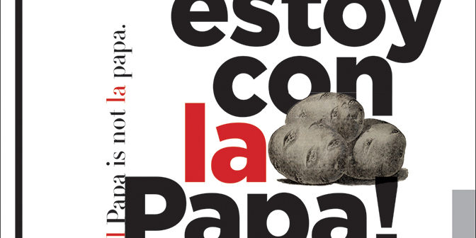 Graphic design exhibit 'No Literal' in Chicago questions the incorrect use of the Spanish language