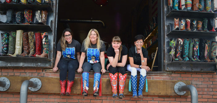 Sisterhood of the Traveling Boots that began as Beto O'Rourke promotion 'absolutely the funnest thing'