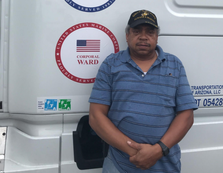 Why a truck driver keeps rolling despite pandemic challenges