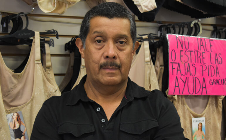 Joe Hernandez, owner of downtown clothing store, La Quinta, is optimistic about holding on through the pandemic to await the return of shoppers from south of the border. Photo by Brianna Perez, Borderzine.com