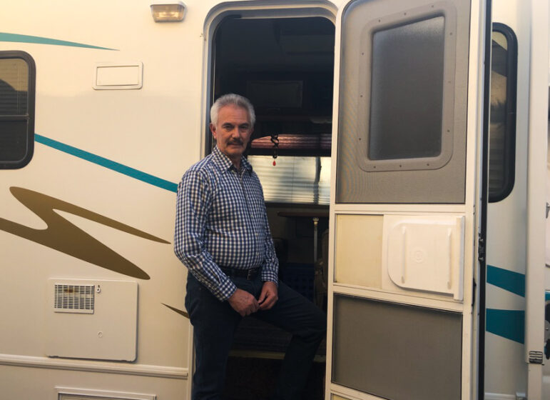 First time RV buyer, Ricardo Valle, switches to RV travel for family time during the pandemic. Photo by: Brianna Perez, Borderzine.com