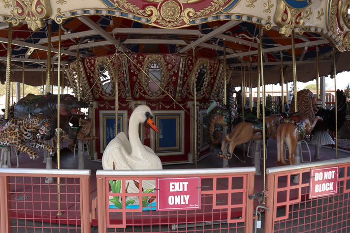 The carousel is one of the outdoor attractions that remain closed due to sanitization purposes.